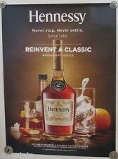 New Lot of 2 Store Display Paper Posters HENNESSY REINVENT A CLASSIC