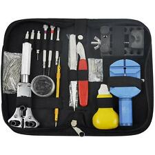 144 Pcs Watchmaker Watch Repair Tool Kit Back Case Remover Opener Spring Pin Bar