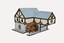 20MM WARGAMES SCENERY EUROPEAN WATERMILL BUILDING FLAMES OF WAR-BOLT ACTION