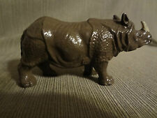 Antique France Lead Toy Rhinocerus Rhino Dollhouse Miniature Zoo Animal Depose