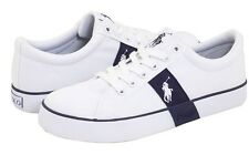 "Polo Ralph Lauren Leather Boys""GILES""YOUTH Shoes Size 3 White/Blue NIB"