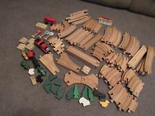 THOMAS THE TRAIN WOODEN COMPATIBLE TRACK 100 PCS.