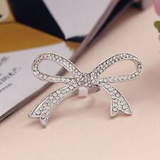 Women Lady Jewelry Big Bowknot Design Finger Ring Beautiful Gift Fashion Style