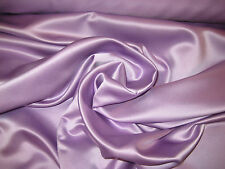"Lilac 100% Polyester Lamour/Peau Di Soie Satin Fabric 58"" Wide Sold By The Yard"