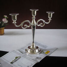 Vintage Silverplate Candelabra 3Arm Candle Holder Table Romantic Weeding Decor