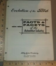1960 Ford Brochure Original Facts and Facets of the Automotive Industry
