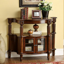 Furniture of America Georgia Classic Antique Walnut Entryway Table Home Decor