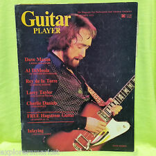 Dave Mason Guitar Player Magazine October 1975 Charlie Daniels, Al DiMeola