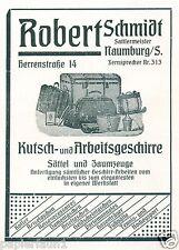 Sattler Schmidt Naumburg Reklame von 1921 Sattel Zaumzeug Koffer Pferdegeschirr