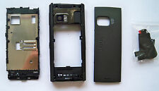 Black cover case faceplate fascia facia housing faceplate for Nokia X6  on sales