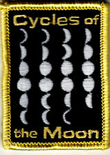 """CYCLES OF THE MOON PATCH - IRON ON PATCH - Astrology - Planet - Stars -  Moon"