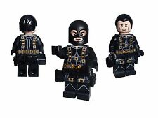 Hero SWAT minifigure in SURVIVAL SUIT with utility belt and black mask