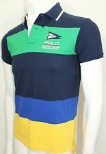 Polo Ralph Lauren Custom-Fit Colorblocked Mesh Polo Large French Navy NWT