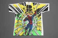 XL * NOS vtg 90s 1993 all over print SPIDER MAN x ELEKTRO marvel comic t shirt