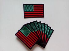 "10 Pcs RASTA USA Flag Embroidered Patches 3.5""x2.25"""