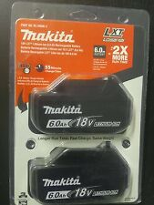 (Qty 2) Genuine Makita BL1860B 18V 90Wh 6.0Ah Lithium Ion Battery W/ LED Gauge