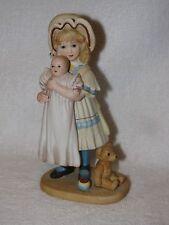 Porcelain Jan Hagara Figurine Jenny & Her Bye- Lo Doll