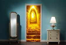 Door Mural Dungeon Tunnel View Wall Stickers Decal Wallpaper 169