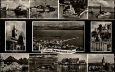 Immenstaad am Bodensee Mehrbildkarte ~1950/60 Wasserburg Lindau Pfahlbauten u.a.