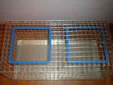 New 2- Hole Solid Divider Unique Rabbit show Bunny/Chicken/guinea Transport cage