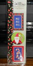 MARY ENGELBREIT STICKERS HO HO HO, SANTA CLAUS & 2 CANDY CANES