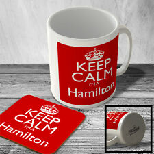 MAC_KCSNAME_126 KEEP CALM I'm a Hamilton - Surname Mug and Coaster set