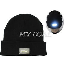 Unisex 5 LED Light Cap Hat Winter Knitted Beanie Fishing Hunting Camping Running