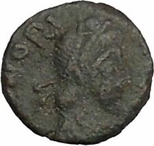 HONORIUS 410AD Rome Victory Authentic Ancient Roman Coin RARE AE4 Type i45190