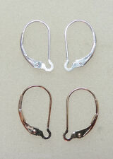 2 PAIR INTERCHANGEABLE Leverback Earring Wires 1 14K YG Filled 1 Solid Sterling