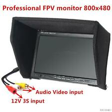 FPV Monitor Video Screen No Blue Screen 7Inch 800x480 Color TFT LCD sunhood