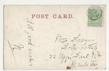 Mrs Francis, Holly Cottage, 22 Upper Fant Road, Maidstone1908 Postcard, B086