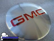 07-14 GM GMC SIERRA YUKON DENALI OEM FACTORY WHEEL RIM CENTER CAP SILVER RED