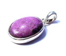 Gorgeous 925 Sterling Silver Lavender Jade Pendant F11
