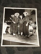 Unknown Country Western Singers -  B&W publicity photo late 40's early 50's