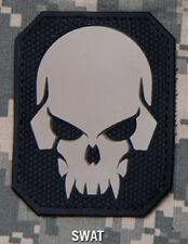 PIRATE SKULL 3D PVC MILITARY OPS BADGE US ARMY SWAT VELCRO® BRAND FASTENER PATCH