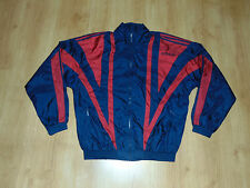 Adidas Men Nylon Vintage Retro Old Jacket Jacke Tracksuit Sport Zip Top Sz L D 8