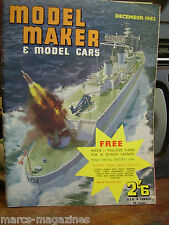MODEL MAKER DECEMBER 1962 HMS DEVONSHIRE MOON BEAM SPACE MODEL PLAN COOPER AUSTI