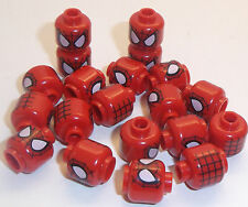 Lego Spiderman Heads x 20 taken from keychains so have a hollow stud