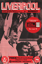 1981/82 Liverpool v Barnsley, League Cup, PERFECT CONDITION