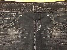 Blue Jeans Denim Jeggings Trim 'n' Slim Leggings L-XL Stretch Elastane Spandex