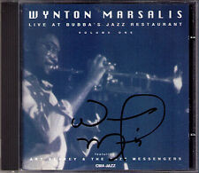 Wynton MARSALIS Signed LIVE AT BUBBA'S JAZZ RESTAURANT (1) My Funny Valentine CD