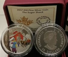 2017 Iconic Sugar Shack Canada $10 Pure Silver Proof 1/2OZ Coin.