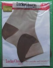 Lucky Charm RHT Reinforced  Heel & Toe VINTAGE SHEER Stockings Size 9 Bronze
