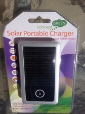 Concept Green Portable Solar Phone Charger 3500mAh Battery SILVER CGS3500-S