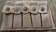 WWII US PARATROOPER PATHFINDER CAMO THOMPSON SMG 5 CELL 20 ROUND AMMO POUCH