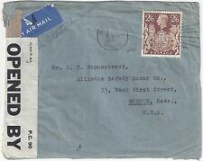 UK GB 1940 US ON ACTIVE SERVICE CENSORED WARTIME COVER FRANKED SG 479 TIED HOUST