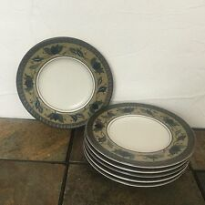 Set of 6 Mikasa  Intaglio CAC 01 Arabella Saucer Bread and Butter Plate 6-3/4""