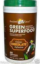 NEW AMAZING GRASS GREEN SUPER FOOD CHOCOLATE DRINK POWDER CACAO INFUSION 480 g