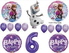 FROZEN OLAF PURPLE 6th HAPPY BIRTHDAY PARTY BALLOONS Decorations Supplies Snow