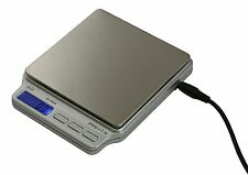 American Weigh Scales SC-2KGA Digital Pocket Scale 2000 g x 0.1 g AC Adapter New